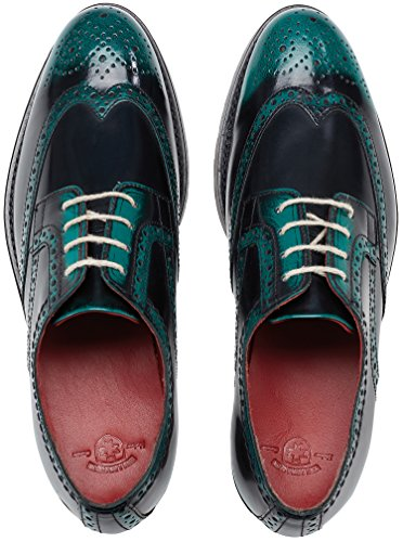 Scarpe Wellensteyn Donhurst Pelle Color Nero Lucido Verde
