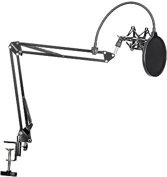 Neewer NB-35 - Soporte de tijera con agarre de clip para micrófono ...