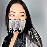 Urieo Sparkly Rhinestones Mesh Masks Black Bling