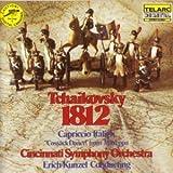 TCHAIKOVSKY: 1812 OVERTURE, OP.49 / CAPRICCIO ITALIEN OP.45 / ERICH KUNZEL~CINCINNATI SYMPHONY ORCHESTRA / COSSACK DANCE FROM MAZEPPA / 1979 CD / CD MADE IN JAPAN / TELARC RECORDS/