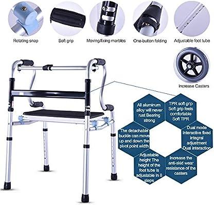 Andadores para personas mayores, Andador compacto y plegable ...