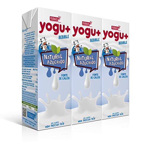 Feiraco Yogu Natural Azucarado Paquete De 8 Packs De 3x200 Ml Total 4800 Ml
