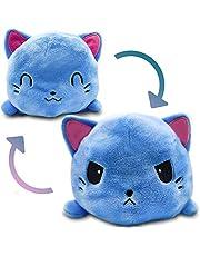 Zachte dubbelzijdige opklapbare kat vos hondenpop, vrolijke / droevige octopus Pluche omkeerbare knuffelpop Kinderen cadeau omkeerbare octopus (kat)