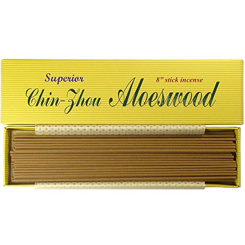 "Superior Chin-Zhou Aloeswood - 8"" Stick Incense - 100% Natural - F058T"