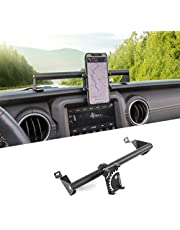 RT-TCZ for 2019 Jeep Wrangler JL JLU Phone Mount Holder Stainless Steel Stable Enough Off Road Equipment Accessories Compatible with 2020 Jeep Gladiator JT