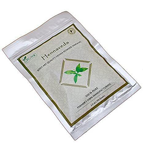 Buy Hennaveda Natural Body Art Quality Henna Powder Triple Filtered Lawsonia Inermis 100g Online At Low Prices In India Amazon In