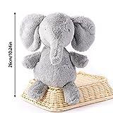 "KateDy 10.2"" Cute Animals Plush Toys Baby Calm Stripe Doll Stuffed Elephant Birthday Gift Bag Portable Doll(1pc)"