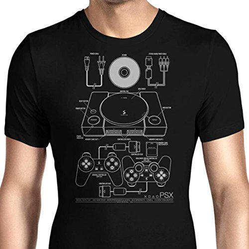 HONGRONG Men's PSX (Alt) Unique Design Tshirt Fashion Tee XX-Large ()