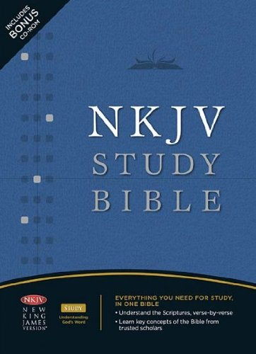 Download The NKJV Study Bible: New King James Version, Black, Bonded Leather, Study Bible pdf
