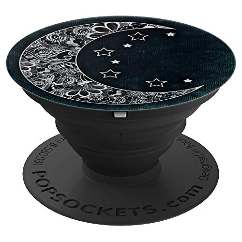 Cute Tribal Tattoo Astronomy Moon And Stars - PopSockets Grip and Stand for Phones and Tablets - Moon Tribal Tattoos