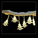 Christmas Tree String Lights,ZYooh 20LED Metal Pineapple Shaped Copper Wire Starry String Lights for Bottle Lights DIY Decor,Christmas,Halloween,Wedding,Dancing,Party (warm)