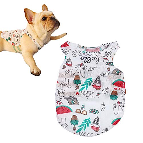 Petea Pet Clothes Dog Cat Summer Watermelon Fruits Vest Cute Puppy Apparel for Dogs and Cats
