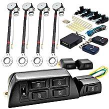 4x Door Car Power Window + Keyless Door Unlock Kit For Dodge Caliber Challenger Charger Dakota Dart