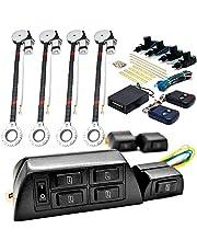 Biltek 4x Door Car Power Window + Keyless Door Unlock Kit Compatible with Chevy Astro Avalanche Aveo Bel Air Blazer Suburban