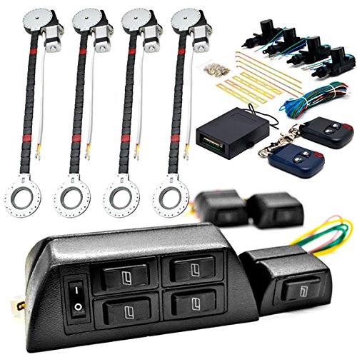 4x Door Car Power Window + Keyless Door Unlock Kit For Ford Super Duty F-100 Ranger F-150 Heritage F-250 KapscoMoto