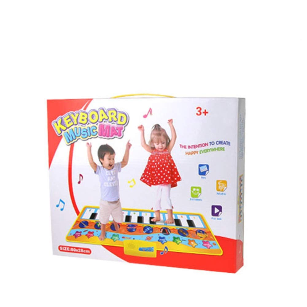 Play Keyboard Mat 32 Inches 10 Keys Electronic Musical Keyboard Playmat Foldable Floor Keyboard Piano Dancing Activity Mat Step And Play Instrument Toys For Toddlers Kids Children's Gift Different Mus by GAOCAN-gq (Image #2)