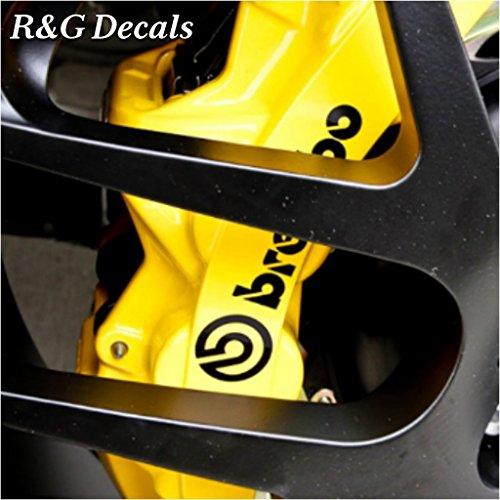 R&G HIGH TEMP Brembo Brake Caliper Decals Sticker Set of 4 (Black)