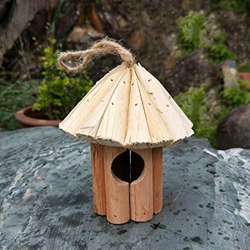 KLING'S Professional Wooden Garden Bird Cage Fir Cone Birds Nest House Handmade Wood Crafts, Small Birds Nest - Bird Figures, Bird Tea Light Holder, Burlap Birds, Bird Nesting Fiber, Bird Wall Lamp by KLING'S