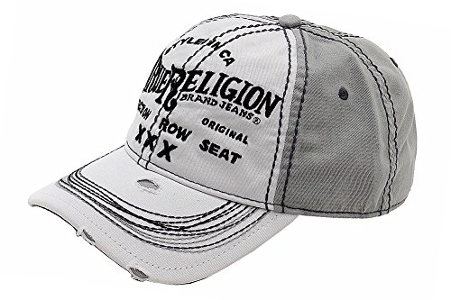True Religion Men's Triple X Cap, White, One Size