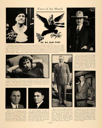 1933 Article Elizabeth Hawes Schoellkopf McCain Vidal - Original Print Article