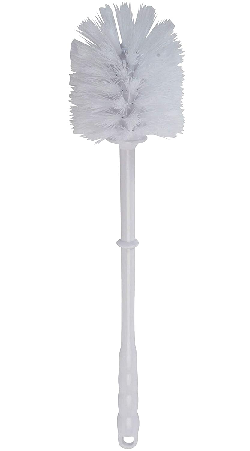 Bristles 4000 Commercial Toilet Bowl Brush Plastic Handle Polypropylene Fill White