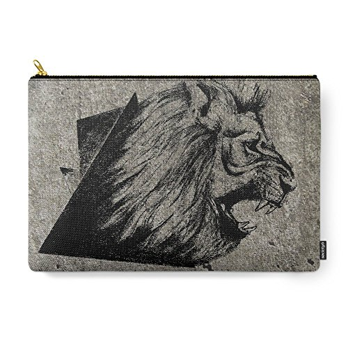 "Society6 Angry Concrete Lion Carry-All Pouch Large (12.5""..."