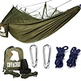 Forget The Tent Ideal as a tent replacement, this Mosquito Net Camping Hammock is lightweight, compact and can be taken anywhere. Compact While Spacious When folded into it's attached stuff-sack, you won't even know it's in your backpack! It's small ...