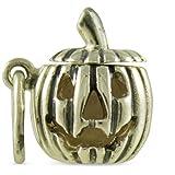 Vintage Style Jack-O-Lantern Halloween 925 Sterling Traditional Charm
