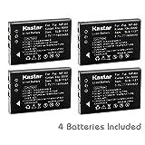 Kastar FNP60 Battery (4-Pack) for HP PhotoSmart R07 R507 R607 R607v R607xi R707 R707v R707xi R717 R725 R727 R817 R817v R817xi R818 R827 R837 R847 R926 R927 R937 R967
