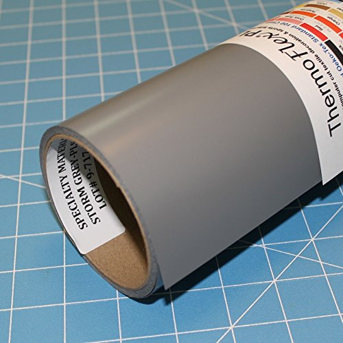 ThermoFlex Plus 15'' x 10' Roll Storm Grey Heat Transfer Vinyl by Coaches World by Thermoflex