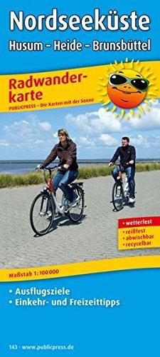 Nordseeküste, Husum - Heide - Brunsbüttel: Radkarte mit Ausflugszielen, Einkehr- & Freizeittipps, wetterfest, reissfest, abwischbar. 1:100000 (Radkarte / RK)