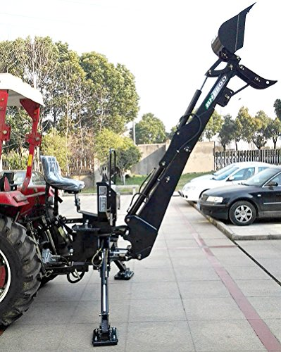 Backhoe Tractor Attachment BH8600 15'' Bucket with Thumb, PTO 3 Point Linkage Excavator Hydraulic by Western Pacific