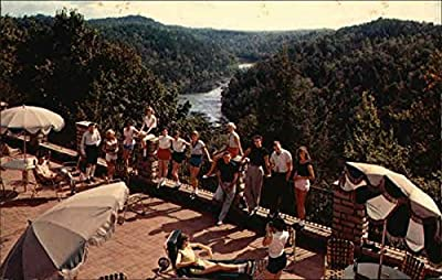 View of Cumberland River From Du Pont Lodge Corbin, Kentucky Original Vintage Postcard