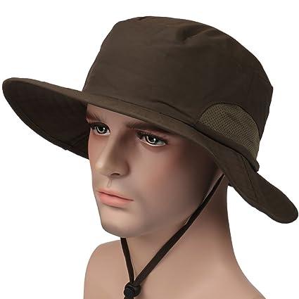 Peicees Fishing Hat Summer Sun Bonnie Hat UPF 50+ UV Protection Wide Brim  Cap Water Resistant Safari Hat for Men Women Boys Girls  efbe9030359b