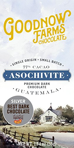 Goodnow Farms Chocolate, Bar Chocolate Asochivite Maple, 1.94 Ounce made in New England