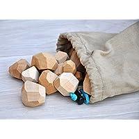 Tumi Ishi 20 Wood balancing stones for kids Wood balancing toys Wooden balancing game Educational toys for toddler Wooden balancing blocks Wood balancing game Educational toys for 3 years old