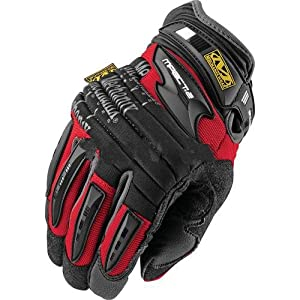 Lg Red & Black M-Pact 2 Full Finger Rubber Anti-Vibration Gloves. Purchase of 2