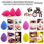 BEAKEY 5 Pcs Makeup Sponge Set Blender Beauty Foundation Blending Sponge, Flawless for Liquid, Cream, and Powder, Multi-colored Makeup Sponges