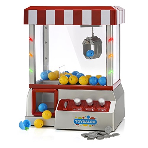 Toydaloo Home Claw Grabber Classic Arcade Game with Lights, Sounds and Non-Stop Action; Includes 24 Reusable Toy-Filled Capsules