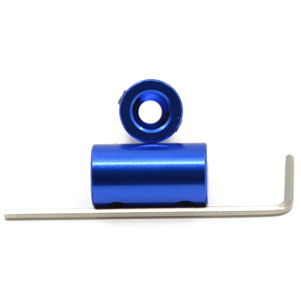 Motor and T8 Lead Screw Connector with Allen Key ReliaBot 2 PCs Blue 5mm to 8mm Aluminum Shaft Coupler Rigid Coupling