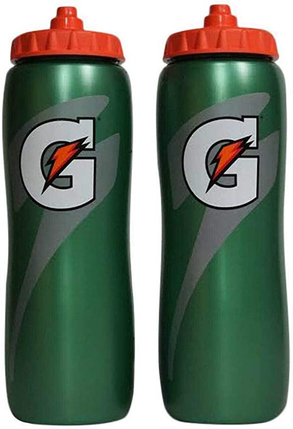 Gatorade 32 Oz Squeeze Water Sports Bottle - Pack of 2
