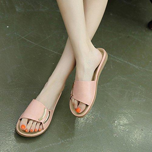 Elegant Ciabatte Moda Rosa Tienew Da Estate Sandali Tacco Casa Estive Estivi Mare Bassi Scarpe Donna Pantofola Pantofole Casual TPTwCt