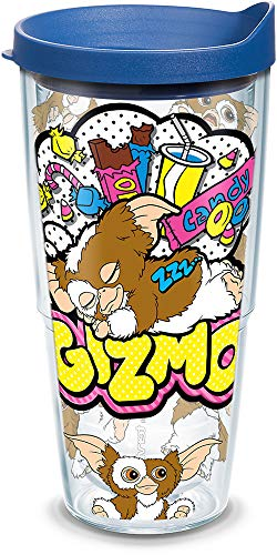 - Tervis 1306157 Warner Brothers - Scary Movie Collection Gremlins Gizmo Insulated Tumbler with Wrap and Blue Lid, 24oz, Clear