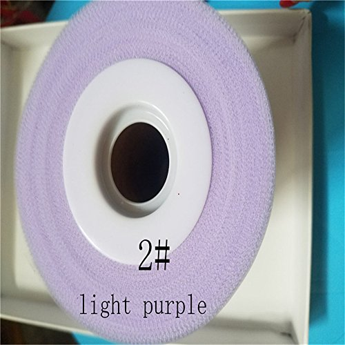 6 Inch x 100 Yards (300FT) Tulle Roll Spool Tutu Skirt Fabric Wedding Party Gift Bow Craft (Lilac)