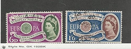Great Britain, Postage Stamp, 377-378 Used, 1960 Europa