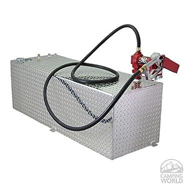 RDS Aluminum Transfer Fuel Tank 60-Gallon, Rectangular, Diamond Plate, Model# 71212
