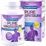 Pure Magnesium - Premium Gentle Magnesium Glycinate (Albion Chelated Magnesium), 200mg, 180 Count
