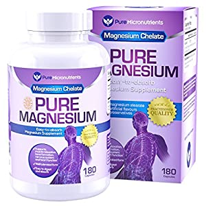 51jUxs8Y1dL. SS300  - Pure Micronutrients Magnesium Glycinate Supplement (Chelated) 200mg, 180 Count