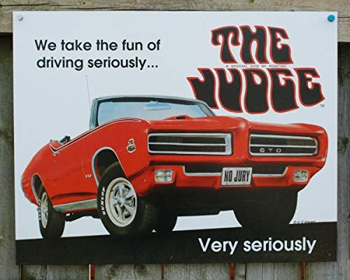 Muscle Car Signs - Pontiac GTO The Judge Tin Sign Man Cave Garage Hot Rod Muscle Car Classic V8 Metal Wall Signs Hall Garage Poster TIN Sign 7.8X11.8 INCH
