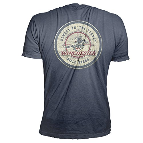 Winchester Always On The Target Men's Vintage T-Shirt In Premium Edition Super Soft Tee (Vintage Shirts Men)